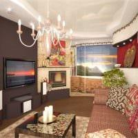 вариант светлого интерьера зала в частном доме фото