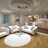 вариант яркого декора гостиной комнаты в современном стиле картинка