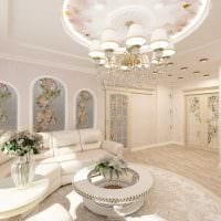 идея необычного стиля квартиры в стиле современная классика картинка