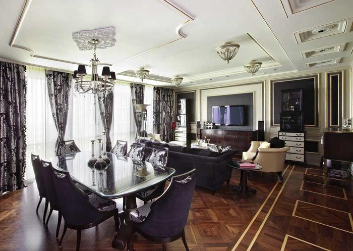 вариант красивого декора квартиры в стиле современная классика