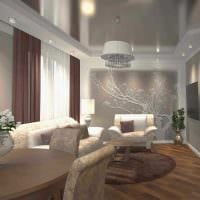 пример необычного интерьера квартиры 65 кв.м картинка