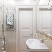 вариант красивого дизайна ванной комнаты в классическом стиле фото