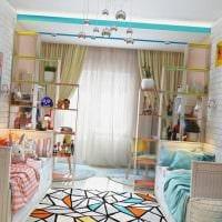 вариант светлого декора детской комнаты для двух мальчиков картинка