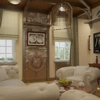 вариант яркого интерьера гостиной комнаты 19-20 кв.м картинка