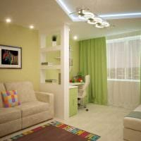 вариант красивого дизайна гостиной 19-20 кв.м фото
