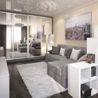 вариант яркого стиля гостиной комнаты 25 кв.м картинка