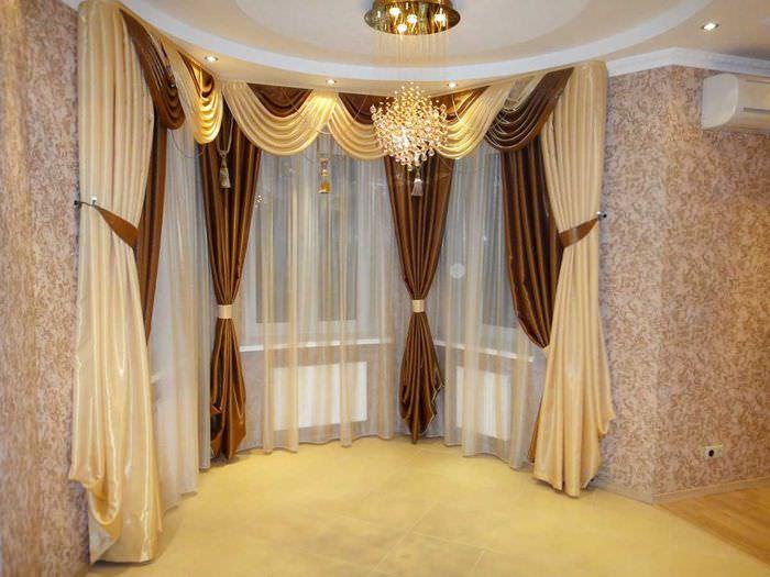 Дизайн ламбрекенов для зала фото