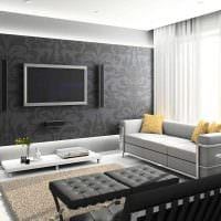 идея яркого интерьера гостиной в частном доме картинка