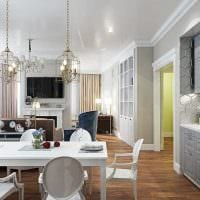 вариант светлого дизайна комнаты в стиле современная классика фото