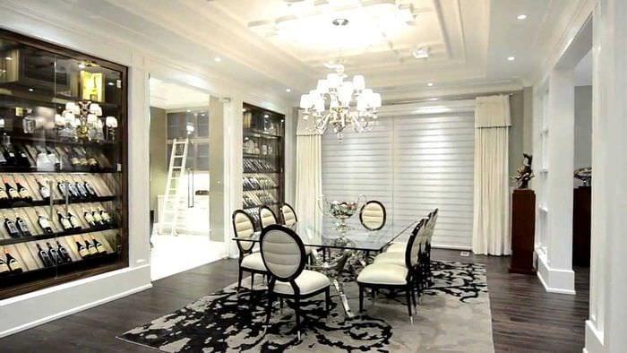 идея светлого интерьера комнаты в стиле современная классика
