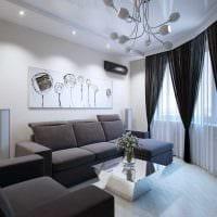 вариант светлого дизайна современной квартиры 70 кв.м картинка