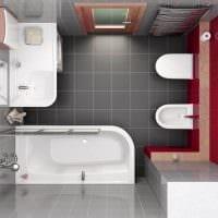 вариант яркого стиля ванной комнаты 5 кв.м фото