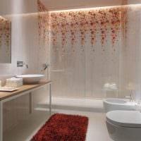 пример яркого дизайна ванной 5 кв.м фото