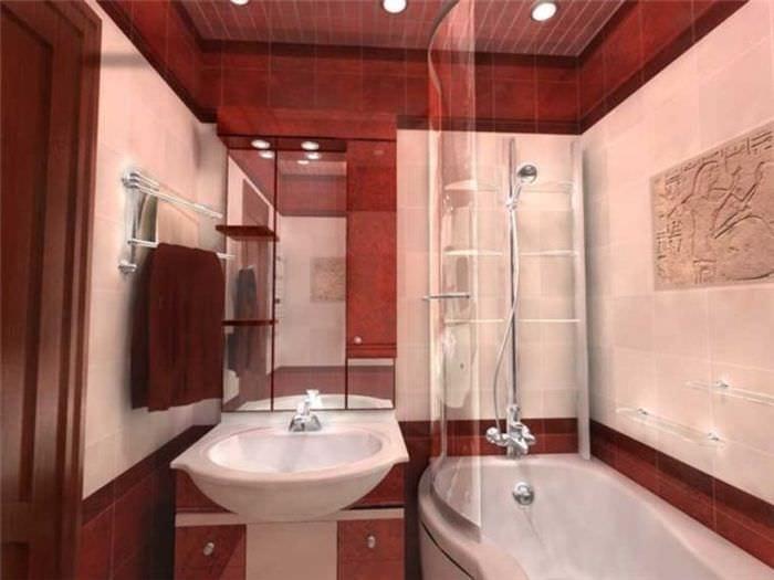 вариант светлого интерьера ванной 5 кв.м