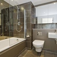 вариант красивого интерьера ванной комнаты 5 кв.м картинка