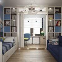идея яркого стиля детской комнаты для двух мальчиков фото
