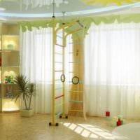 вариант яркого интерьера детской комнаты картинка