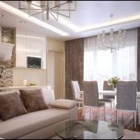 идея светлого интерьера гостиной в современном стиле фото