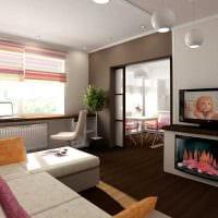 вариант яркого декора современной квартиры 65 кв.м фото