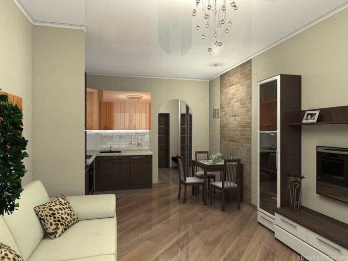 пример красивого интерьера современной квартиры 70 кв.м