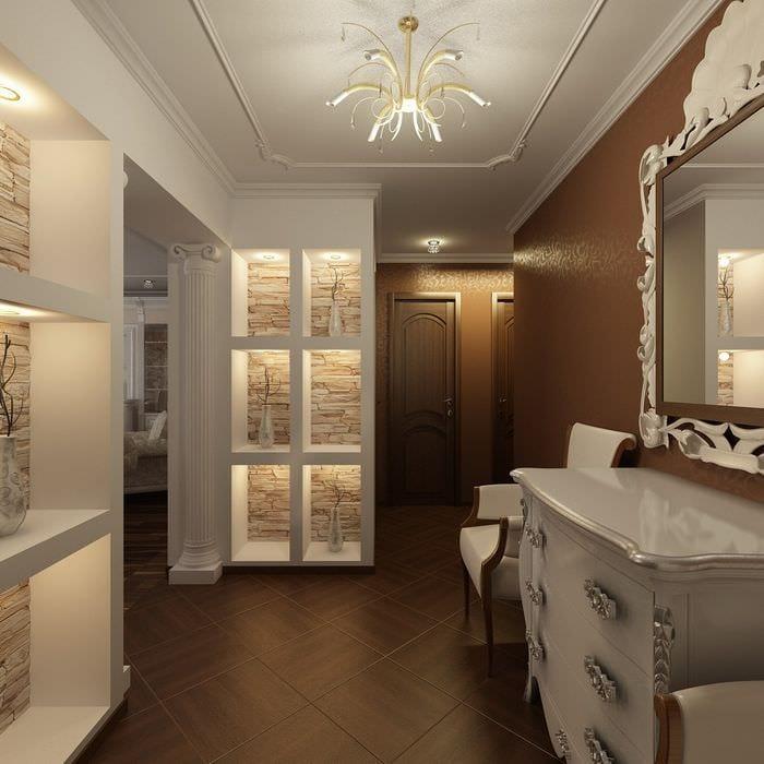вариант необычного декора квартиры в стиле современная классика