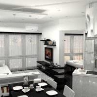 пример светлого дизайна современной квартиры 50 кв.м фото