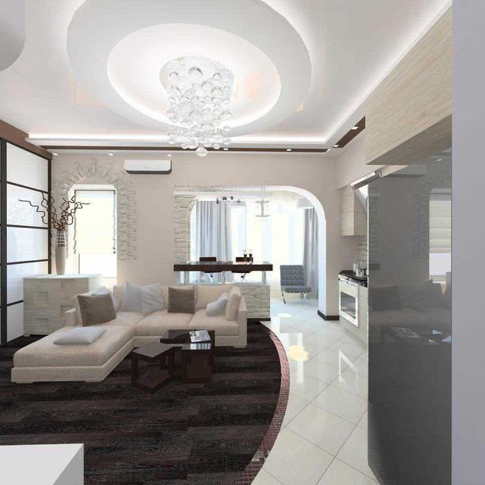 пример необычного декора квартиры 50 кв.м