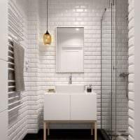 вариант светлого стиля ванной комнаты 5 кв.м фото
