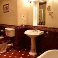 идея необычного декора ванной комнаты в классическом стиле фото