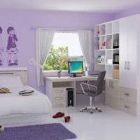 вариант светлого интерьера детской комнаты для девочки фото