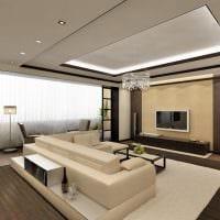 вариант светлого интерьера гостиной комнаты 16 кв.м фото