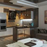 вариант яркого интерьера гостиной комнаты 25 кв.м фото