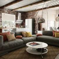 вариант яркого дизайна гостиной комнаты в современном стиле картинка