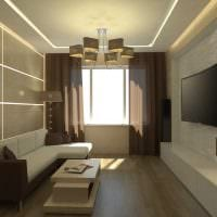идея светлого стиля гостиной в современном стиле фото