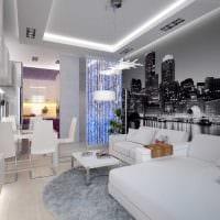 вариант красивого интерьера комнаты в светлых тонах в современном стиле фото