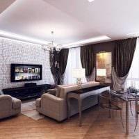 идея яркого дизайна квартиры 70 кв.м фото