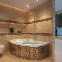 вариант необычного дизайна ванной 5 кв.м картинка