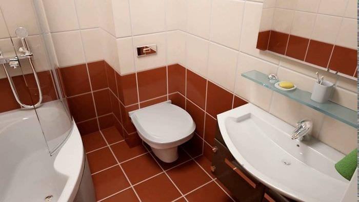 пример необычного стиля ванной 5 кв.м