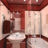 пример яркого дизайна ванной комнаты 5 кв.м фото