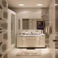 вариант яркого интерьера ванной в классическом стиле картинка