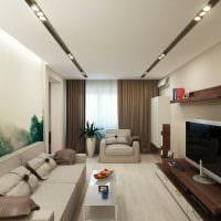 идея яркого дизайна гостиной комнаты в современном стиле картинка