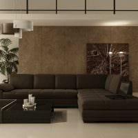 пример светлого интерьера гостиной в стиле минимализм картинка