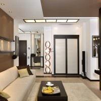пример необычного интерьера гостиной комнаты в стиле минимализм фото