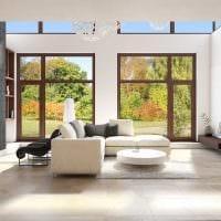 вариант красивого декора гостиной в стиле минимализм картинка
