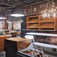 идея светлого интерьера ресторана в стиле лофт картинка
