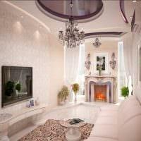 вариант светлого стиля комнаты в светлых тонах в современном стиле картинка