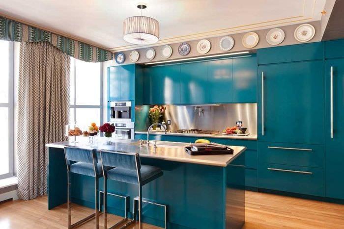 вариант яркого декора современной квартиры 65 кв.м