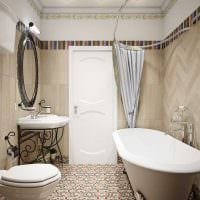 вариант светлого дизайна ванной в классическом стиле фото