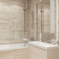 идея светлого декора ванной в классическом стиле картинка