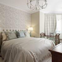идея красивого стиля белой спальни фото